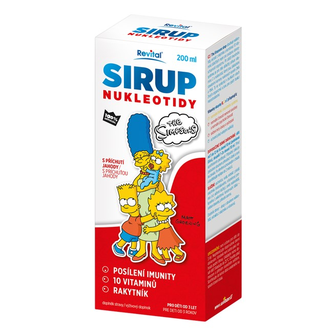 Revital SIRUP NUKLEOTIDY The Simpsons s příchutí jahody 200 ml