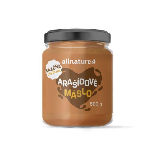 Allnature Arašídový krém s mléčnou čokoládou 500 g