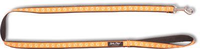 Vodítko pro psa nylonové - oranžové se vzorem pes - 2,5 x 150 cm
