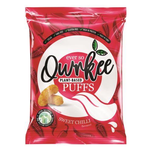 Qwrkee Bezlepkové veganské křupky s obsahem probiotik a příchutí sladké papriky 80 g