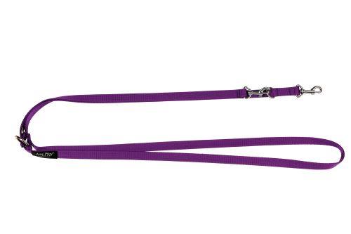 Vodítko pro psa přepínací nylonové - fialové - 1,5 x 100 - 200 cm
