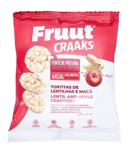 Fruut Čočkové krekry spříchutí jablka 20 g