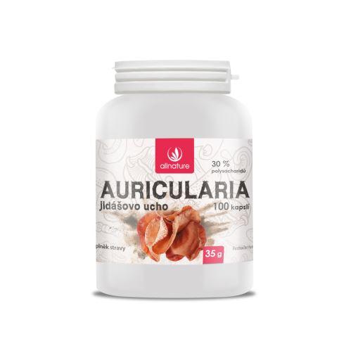 Allnature Auricularia Jidášovo ucho kapsle 100  kps.