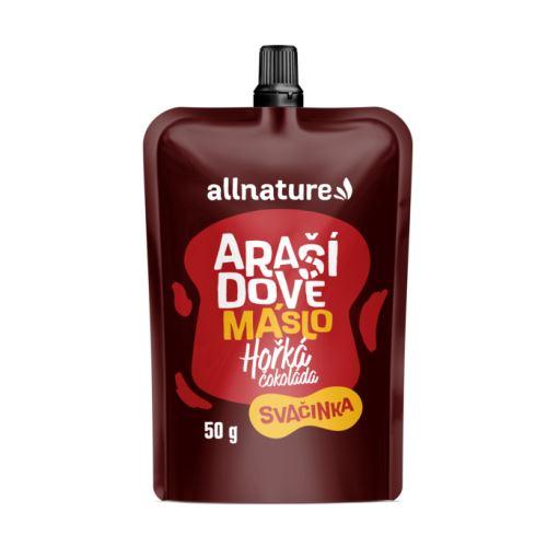Allnature Arašídové máslo s hořkou čokoládou 50 g