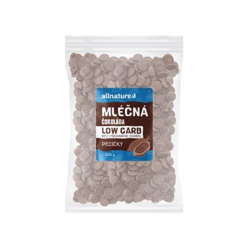 Allnature LOW CARB Čokoláda mléčná pecičky 500 g
