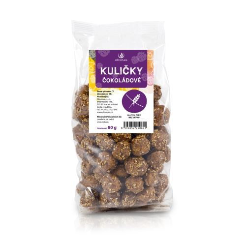 Allnature Cereal Puff Balls Chocolate 80 g