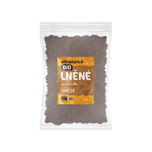 Allnature Lněné semínko hnědé BIO 500 g