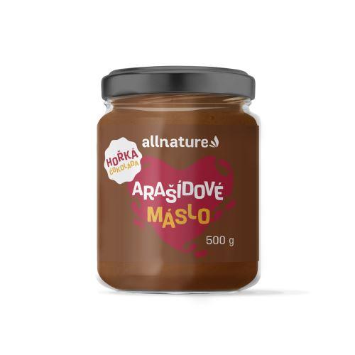 Allnature Arašídový krém s hořkou čokoládou 500 g