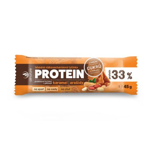 Allnature Protein low carbohydrate bar 33% caramel and peanut 45 g_x000D_