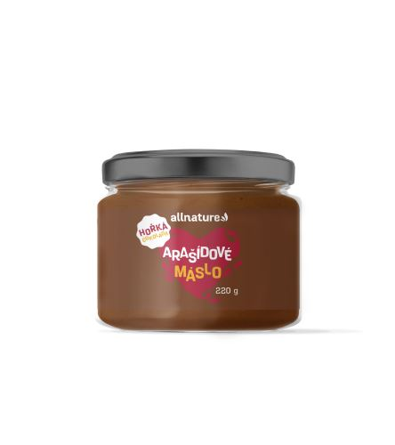 Allnature Arašídový krém s hořkou čokoládou 220 g