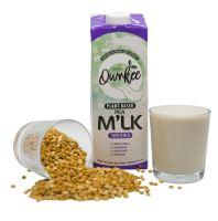 Qwrkee Veganské hrachové rostlinné mléko slazené 1000 ml