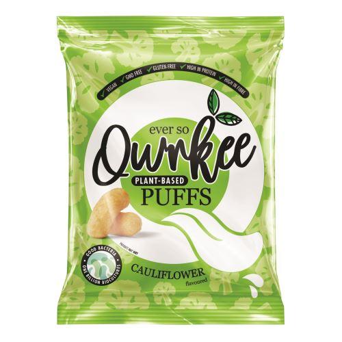 Qwrkee Bezlepkové veganské křupky s obsahem probiotik a příchutí květáku 80 g