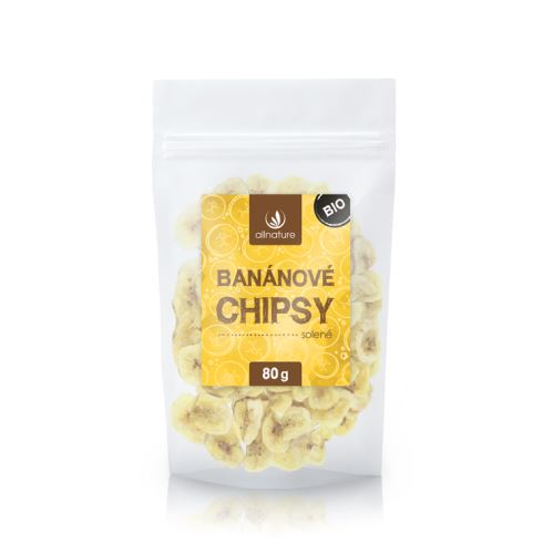Allnature Banánové chipsy solené BIO 80 g