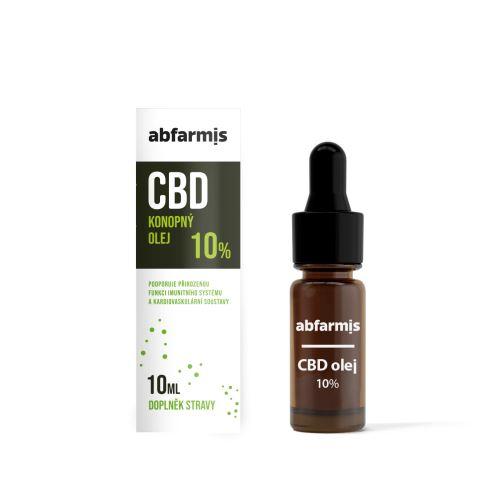 Abfarmis CBD olej 10% 10 ml
