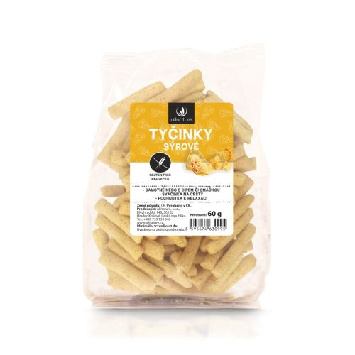 Allnature Gluten Free cheese sticks 60 g