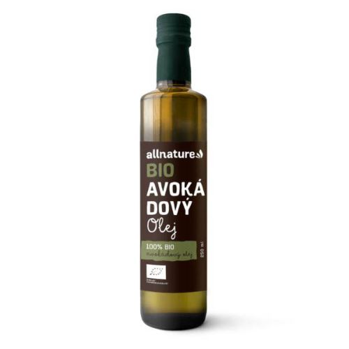 Allnature Avokádový olej BIO 250 ml