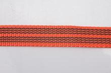 Vodítko pro psa s vetkanou gumovou nítí - oranžové - 2 x 120 cm
