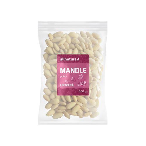 Allnature Mandle jádra loupané 500 g