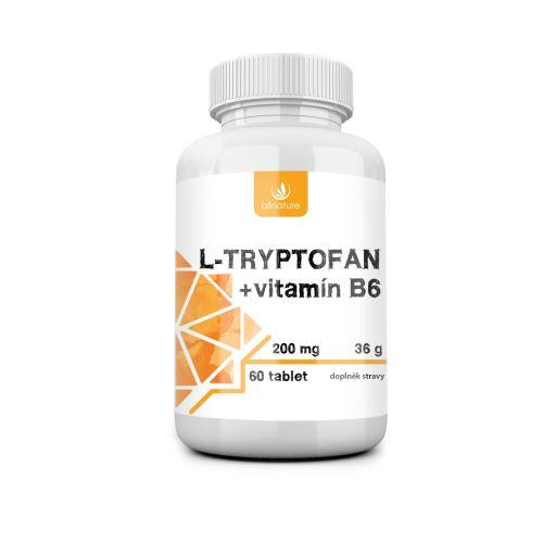 Allnature L-tryptofan 200 mg / 2,5 mg vit. B6 60 tbl.