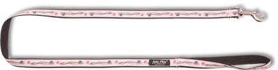 Vodítko pro psa nylonové - šedé se vzorem květina - 2,5 x 150 cm
