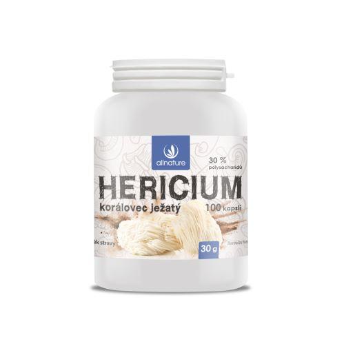Allnature Hericium Korálovec ježatý kapsle 100  kps.