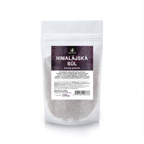 Allnature Himalájská sůl černá jemná 250 g