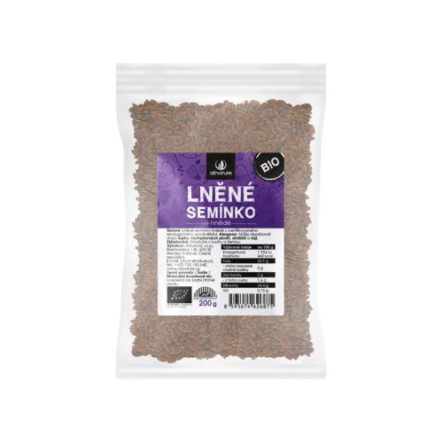 Allnature Lněné semínko hnědé BIO 200 g