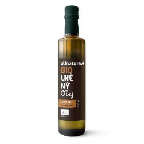 Allnature Lněný olej BIO 250 ml