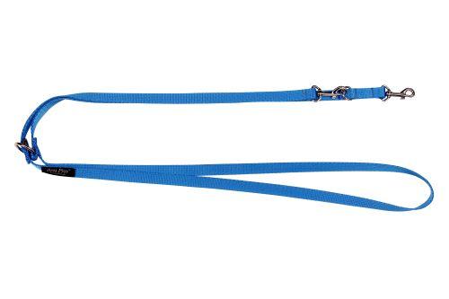 Vodítko pro psa přepínací nylonové - modré - 2,5 x 100 - 200 cm