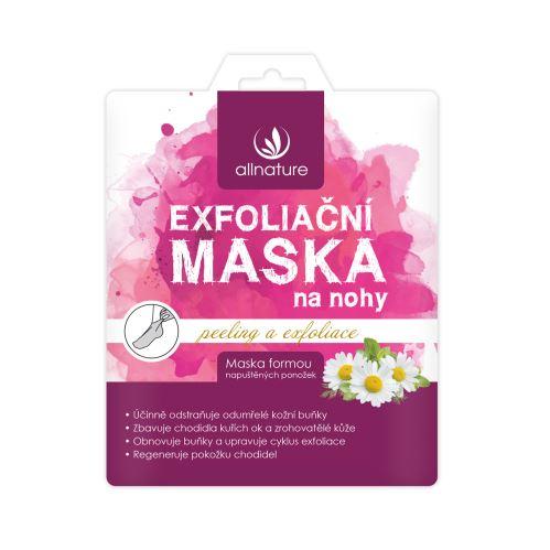 Allnature Maska exfoliační na nohy 40 ml (1 pár)