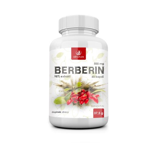 Allnature Berberin Extract 98% 500 mg 60 cps.