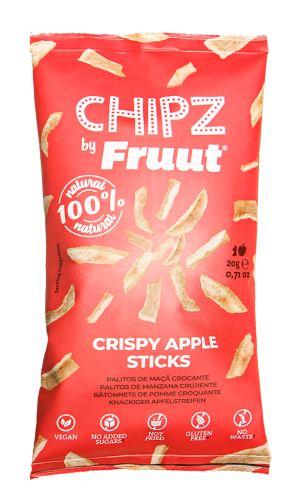 Fruut Sušené jablečné křupavé kousky (červené jablko) 20 g