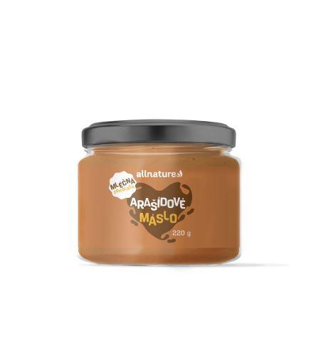 Allnature Arašídový krém s mléčnou čokoládou 220 g