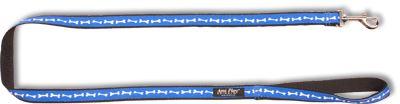 Vodítko pro psa nylonové - modré se vzorem kost - 2 x 150 cm